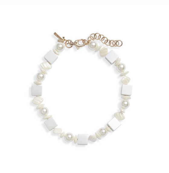 Pearl Stacked Pebble Necklace