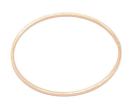 BA27 Thin Flat Bangle - Gold