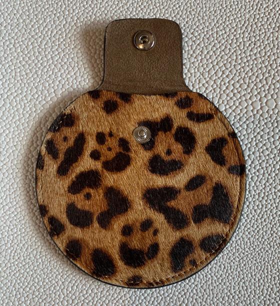 Earbud Holder - Leopard Hair Calf