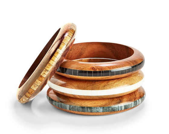 Wood Slip On Bangle