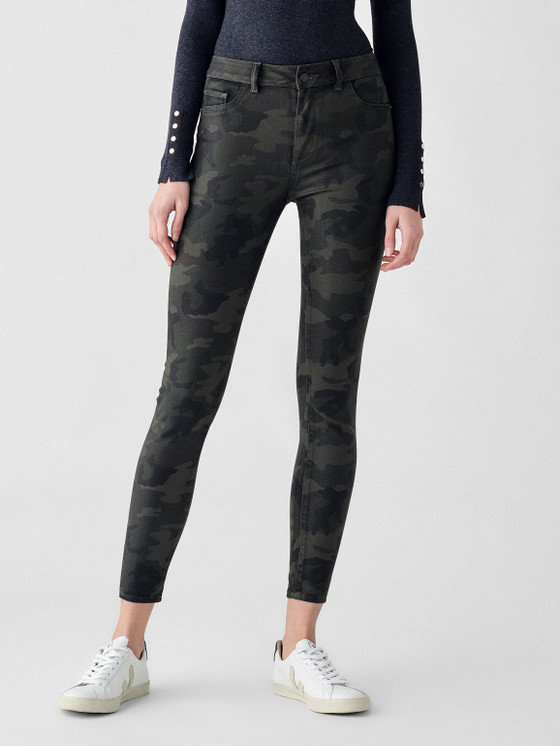Florence Camo Skinny Mid Rise Ankle