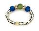 African Glass Bone Bead Single Bracelet