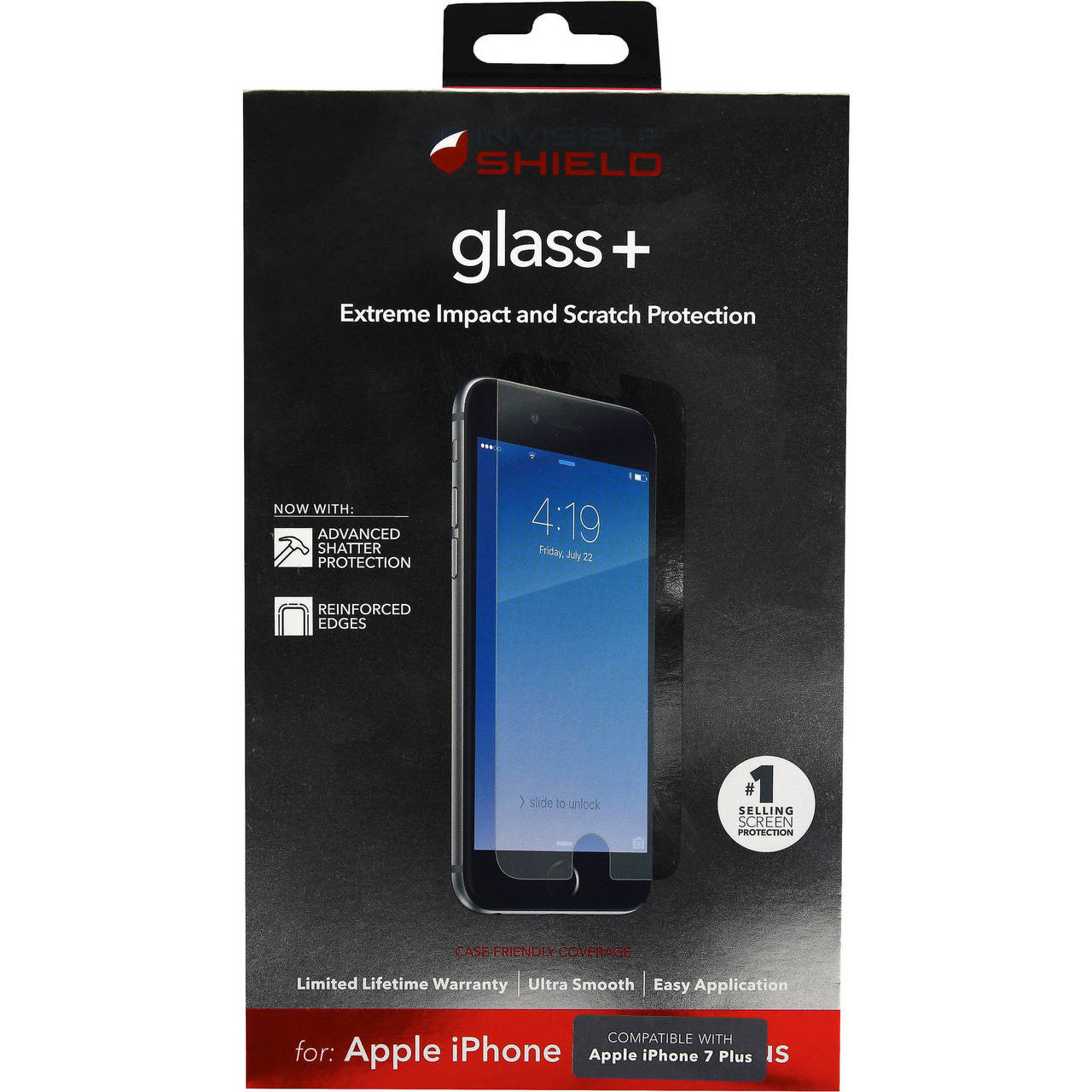 77fe266c9c1 Zagg InvisibleShield Glass Screen Protector iPhone 6 Plus 6s Plus 7 Plus 8