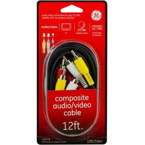 GE Composite Audio Video Cable, 12 foot