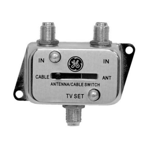GE 2-Way Switch Splitter Cable Antenna - Coaxial A B