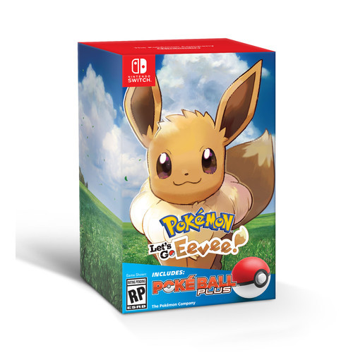 Pokemon: Let's Go, Eevee! w/ Poke Ball, Nintendo, Nintendo Switch, 045496594015