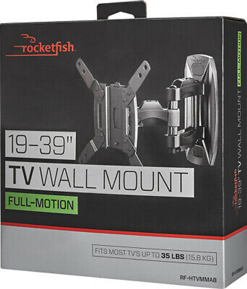 "Rocketfish Full-Motion TV Wall Mount for 19"" - 39"" inch TVs - Black"