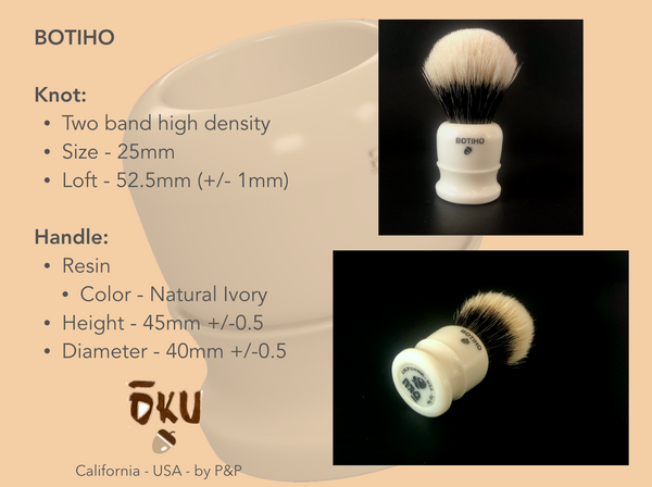 Botiho Specifications.