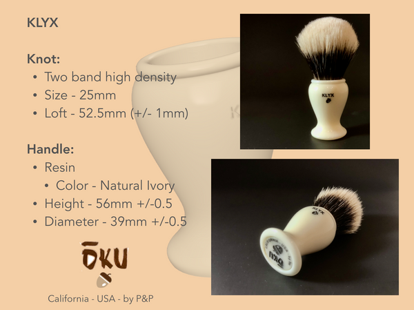 Klyx Specifications.