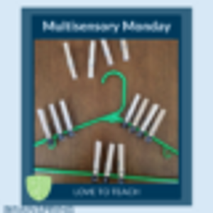 Multisensory Monday- Clothespin Spelling Game
