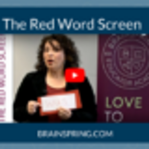 Orton Gillingham Multisensory Tools: The Red Word Screen