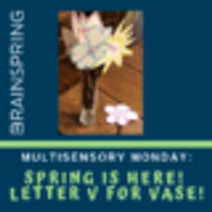 Multisensory Monday: Spring is Here! Letter V for Vase!