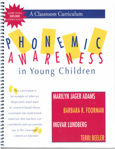 Phonemic Awareness In Young Children--A Classroom Curriculum