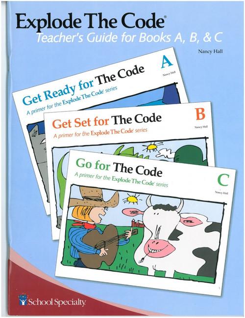 Explode the Code Teacher's Guide Books A, B, C