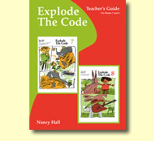 Explode the Code Teacher's Guide Books 7 & 8