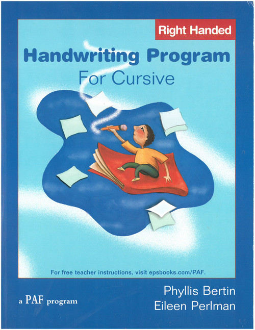 Handwriting Program for Cursive (right-handed)