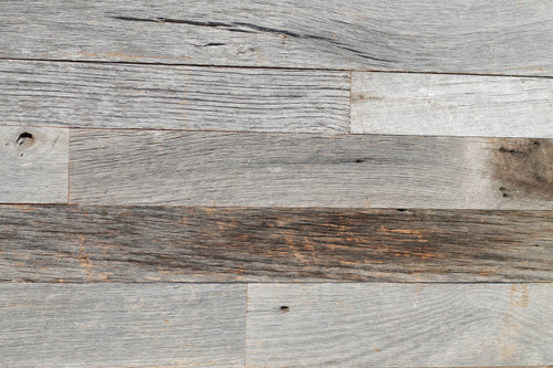 Weathered grey paneling
