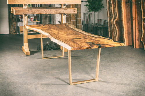Figured Monkey Pod Dining Table