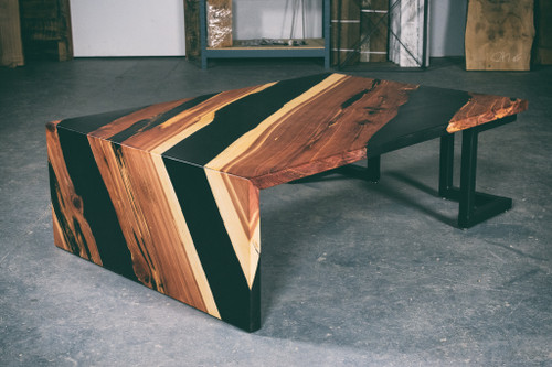 Rustic Lived Edge Coffee Table