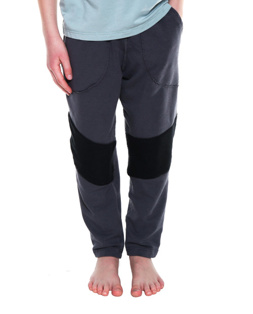 JESSE// Classic Jogger, Grey with Knee Patch