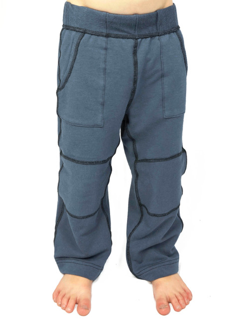 SIZE 3// Taylor everyday pant, dark grey with knee patch- No Label