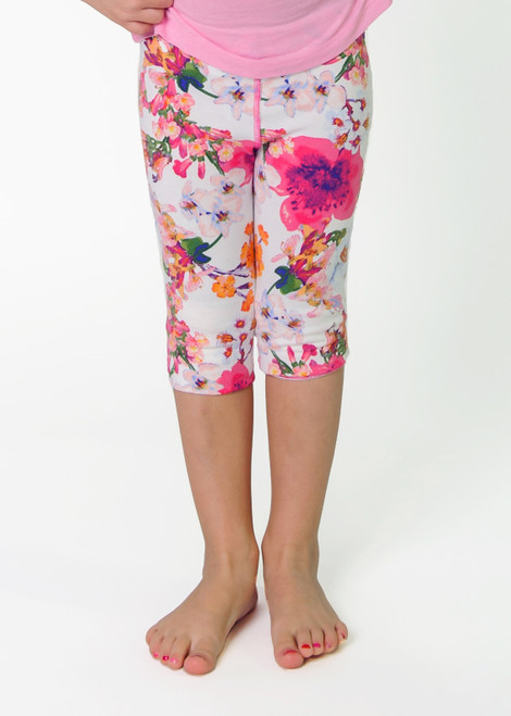 SIZE 2// Anna Capri Legging, Pink Floral- Discontinued