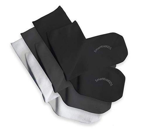 SmartKnitKIDS® Seamless Sensitivity Socks// 3-Pack, Whi+Blk+Grey