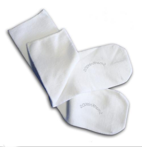 SmartKnitKIDS® Seamless Sensitivity Socks// Single Pair, White