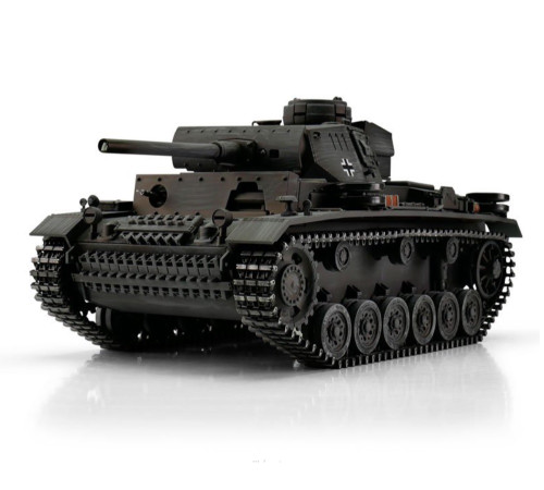 1/16 Torro German Panzer III RC Tank 2.4GHz Airsoft Metal Edition PRO Grey