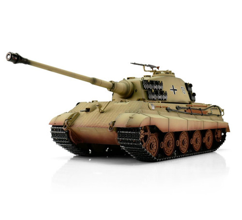 1/16 Torro King Tiger Henschel Turret RC Tank 2.4GHz Airsoft Metal Edition PRO Desert Camo