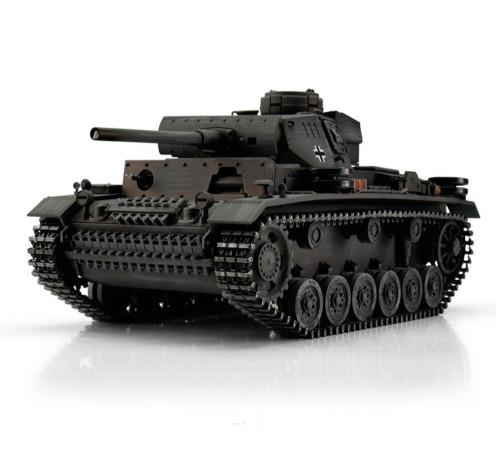 1/16 Torro German Panzer III RC Tank 2.4GHz Infrared Metal Edition PRO Grey