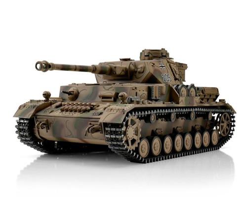 1/16 Torro German Panzer IV RC Tank 2.4GHz Infrared Metal Edition PRO Mediterran
