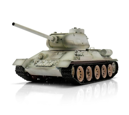 1/16 Torro Russia T34/85 RC Tank 2.4GHz Infrared Metal Edition PRO Winter Camo