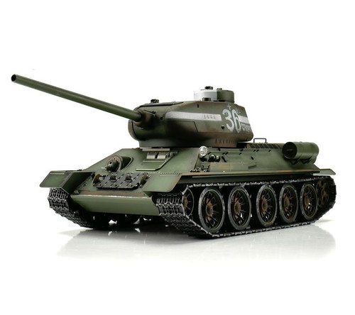 1/16 Torro Russia T34/85 RC Tank 2.4GHz Infrared Metal Edition PRO Green