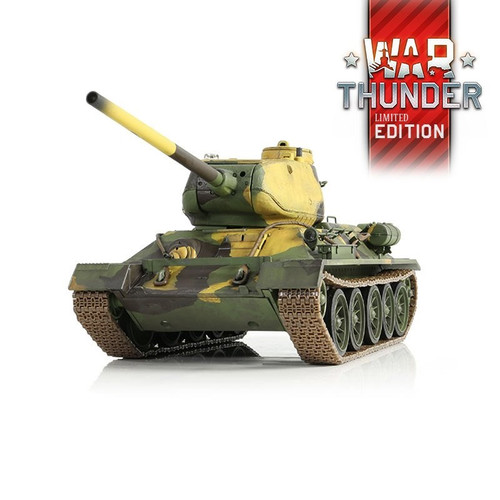 1/24 Russian T-34/85 RC Tank 2.4GHz Infrared RTR War Thunder Edition