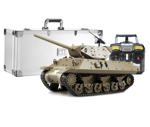 1/16 Mato US M10 Wolverine RC Tank Destroyer Infrared 2.4GHz 100% Metal Green with Aluminum Carrying Case