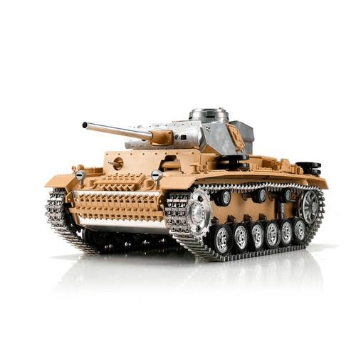 1/16 Torro German Panzer III RC Tank 2.4GHz Infrared Metal Edition Unpainted
