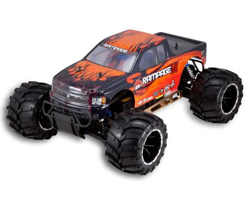 1/5 Rampage MT V3 Gas RC Monster Truck 2.4GHz Orange Flames