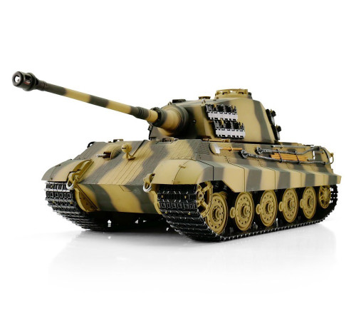 1/16 Torro King Tiger Henschel Turret RC Tank 2.4GHz Airsoft Metal Edition PRO Camo with Barrel Recoil