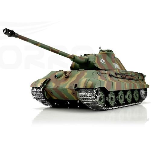 1/16 Heng Long German King Tiger Porsche RC Tank Airsoft & Infrared 2.4GHz TK6.0 Metal Upgrades
