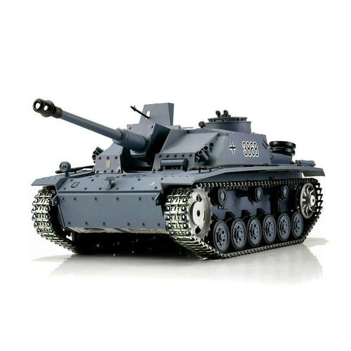 1/16 Heng Long German StuG III RC Tank Airsoft & Infrared 2.4GHz TK6.0 Metal Upgrades
