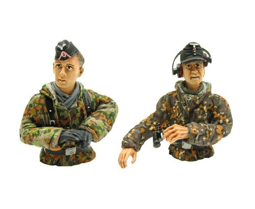 1/16 Scale Torro German Tank Commander & Loader Figure WWII RC Summer Tank Crew
