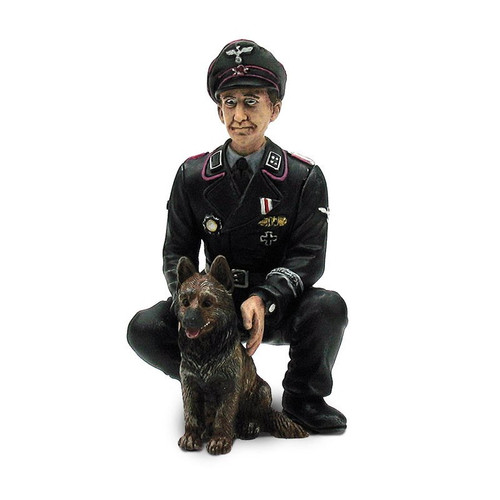 1/16 Scale  Torro German Colonel Otto Paetsch With Dog Figure WWII RC Tank Crew