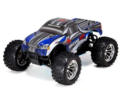 1/10 Volcano S30 RC Monster Truck 4WD Nitro 2.4GHz Blue