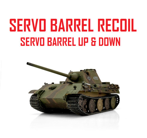 1/16 Torro German Panther F RC Tank 2.4G IR Metal Edition PRO Servo Recoil
