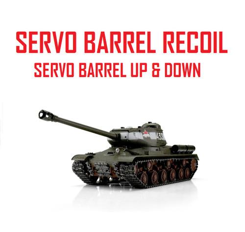 1/16 Torro Russian IS-2 RC Tank 2.4G IR Metal Edition PRO Green Servo Recoil