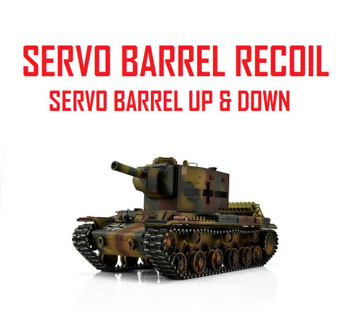 1/16 Torro Russian KV-2 754r RC Tank 2.4G IR Metal Edition PRO Servo Recoil