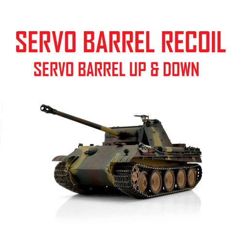 1/16 Torro German Panther G RC Tank 2.4G IR Metal Edition PRO Servo Recoil