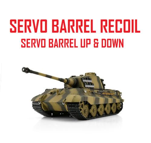 1/16 Torro King Tiger Henschel RC Tank 2.4G IR Metal Edition PRO Servo Recoil