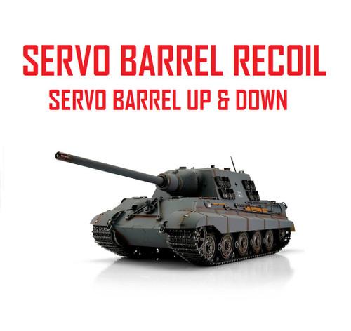 1/16 Torro German Jagdtiger RC Tank 2.4G IR Metal Edition PRO Grey Servo Recoil